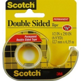 "3m double sided tape 1/2""x250"""