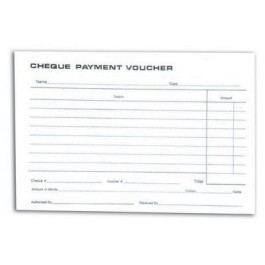 Payment Vouchers Pad (Cheque)