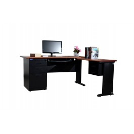 Metal Desk with Pedestal & Return