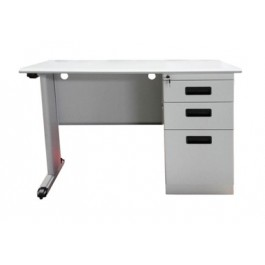 "Metal Desk with Pedestal (56"" x 28"")"