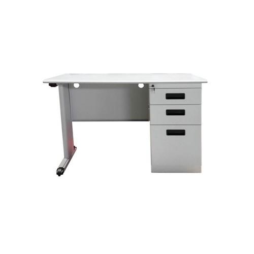 "Metal Desk with Pedestal (56"" x 28"")"
