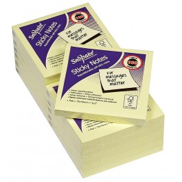snopake sticky notes yellow 1 1/2x2