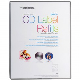 memorex cd labels 120pk matt
