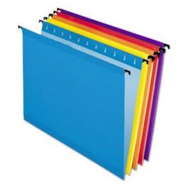 pendaflex multicoloured suspension files blue