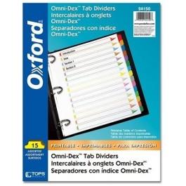 Oxford Omni-Dex Tab Dividers (1-15)