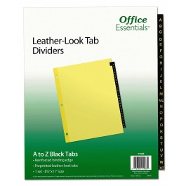 Office Essentials Leather-look Tab Dividers