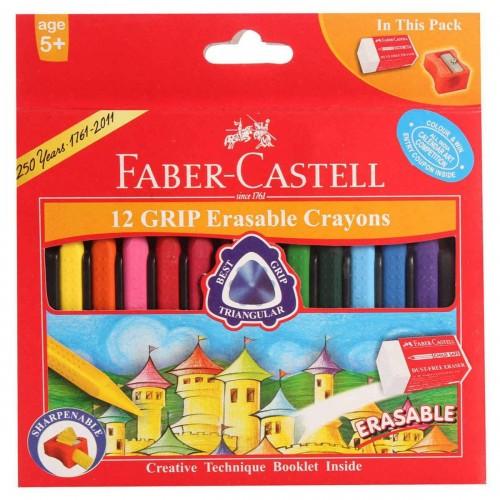 Grip Erasable Crayons (Faber-Castell)