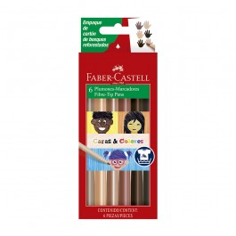 Skin Tone Fibre Tip Markers (Faber-Castell)