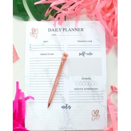 Marble Daily Planner Pad