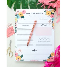 Wildflower Daily Planner Pad