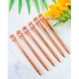 Rose Gold Pineapple Pen