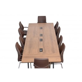(F1) Boat Shaped Conference Table