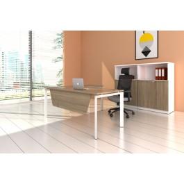 L-Shaped Desk & Credenza