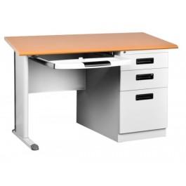 Metal Desk with Pedestal