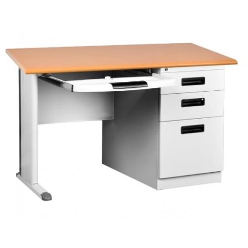"""48"""" Metal Desk (Light Oak)"""